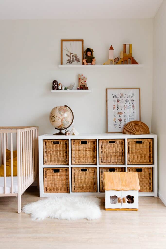 Baby room with a rug