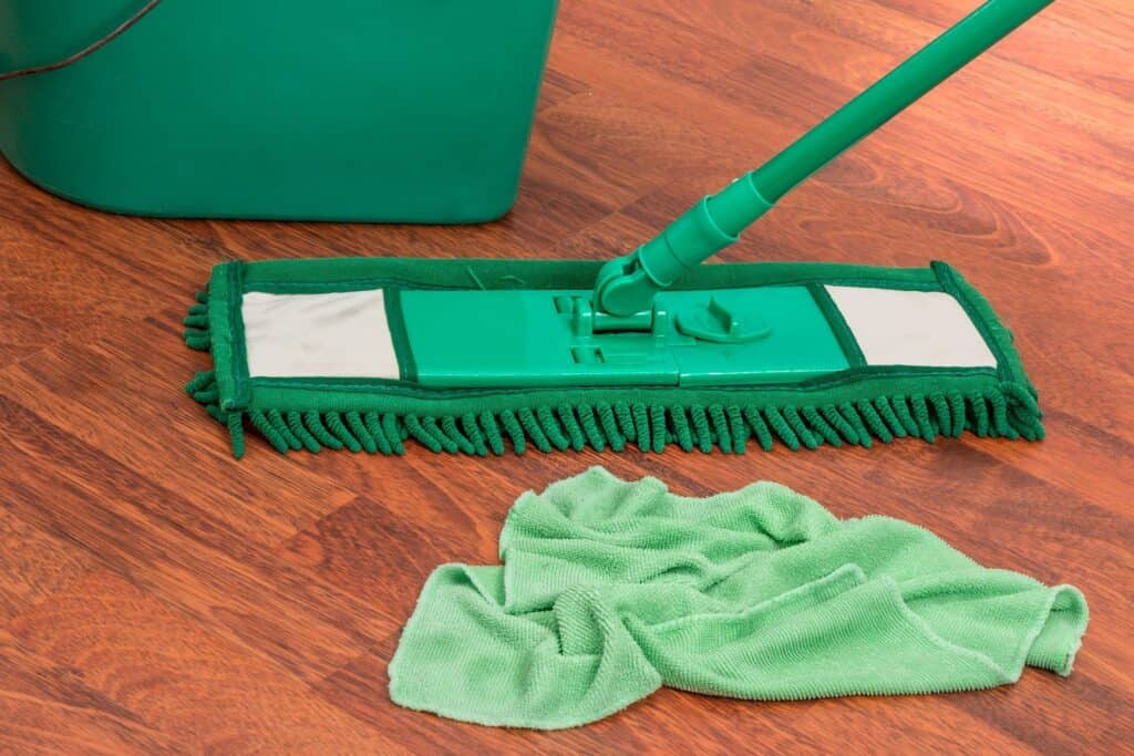 Mop, rag and a bucket