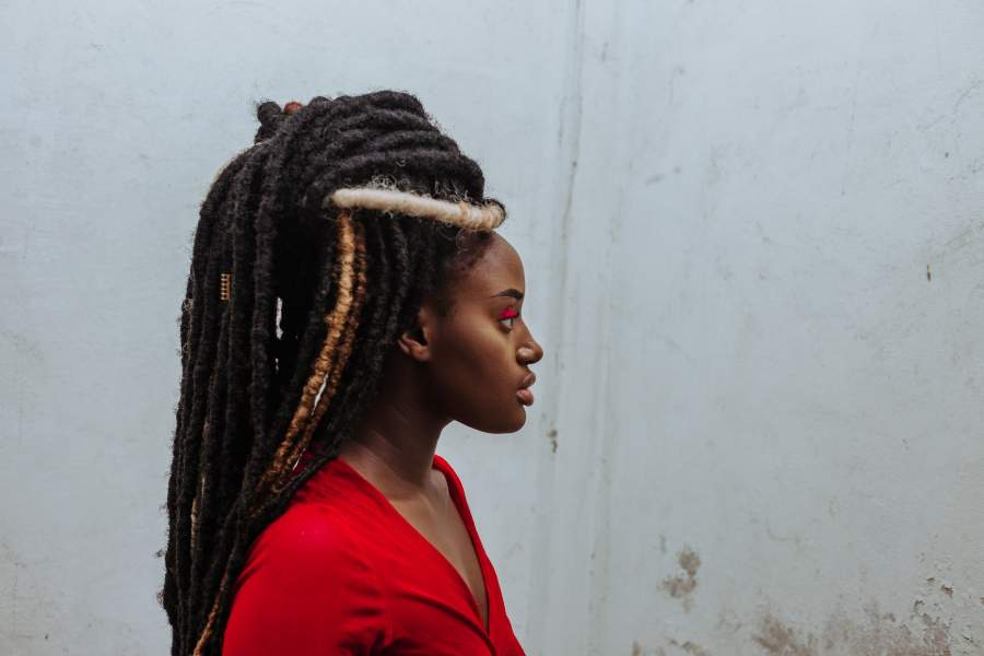 Woman with dreads