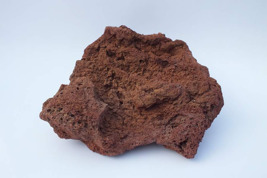 A red lava rock