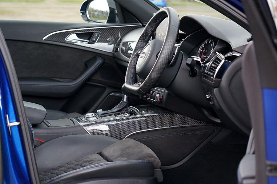 Front seating of a car